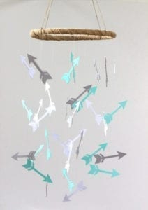arrow nursery ideas - boy arrow room - acraftylife.com #babu